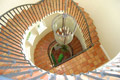 Overhead shot of the Spiral staircase